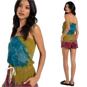 n:Philanthropy Tie Dye Strapless Romper